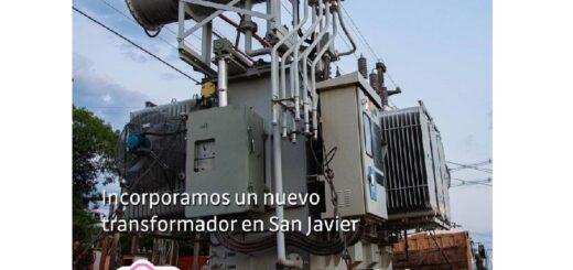 Energía de Misiones incorporó nuevo transformador en San Javier