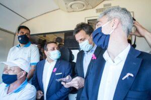 """Massa se llevó una larga lista de pedidos de Herrera Ahuad e instó a Misiones a convertirse en la """"plataforma logística que el Mercosur necesita"""""""