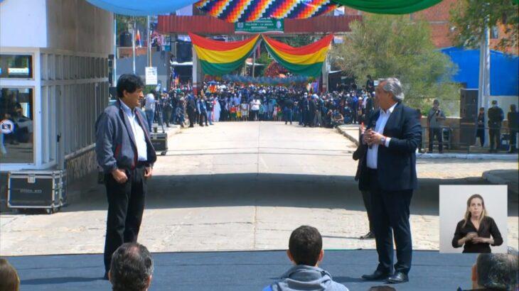 Alberto Fernández despidió a Evo Morales en La Quiaca