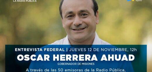 Herrera Ahuad será entrevistado por periodistas de todo el país en Radio Nacional