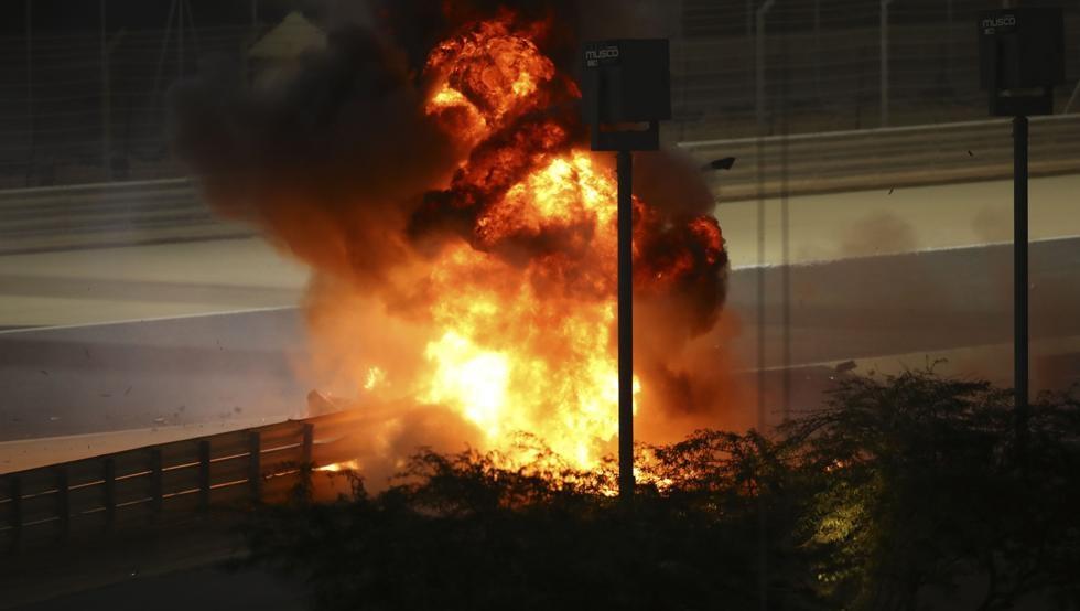 Fórmula 1: Grosjean vuelve a nacer, ¡Tremendo accidente con explosión e incendio!