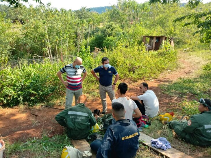 El Ministerio de Salud Pública está trabajando en la zona afectada por incendio en la Biosfera del Yabotí