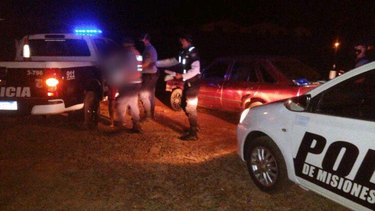 Choque entre una camioneta y una motocicleta dejó como saldo dos lesionados en Oberá