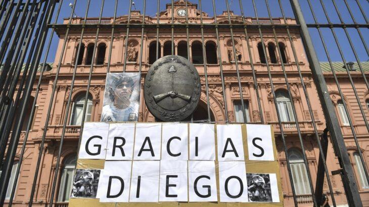 Los restos de Maradona son velados en la Casa Rosada desde las 6 de la mañana