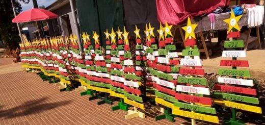 El municipio de Montecarlo entregó árboles navideños a los vecinos