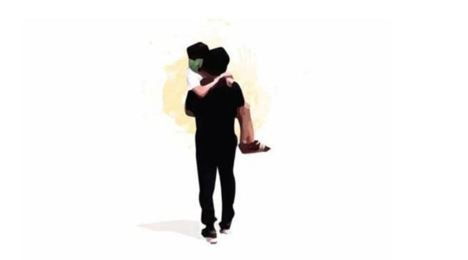 Abigail en brazos de su papá, la ilustración que emociona al país