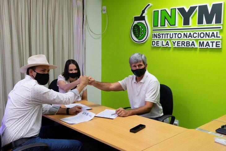 El INYM, el Parque Industrial y la Escuela de Robótica desarrollarán una tijera automática para cosecha de yerba mate