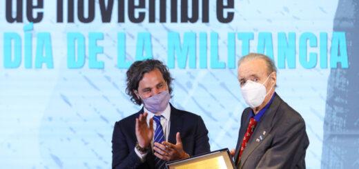 Alberto Fernández y Cafiero celebraron el día de la militancia junto a Lorenzo Pepe y referentes peronistas