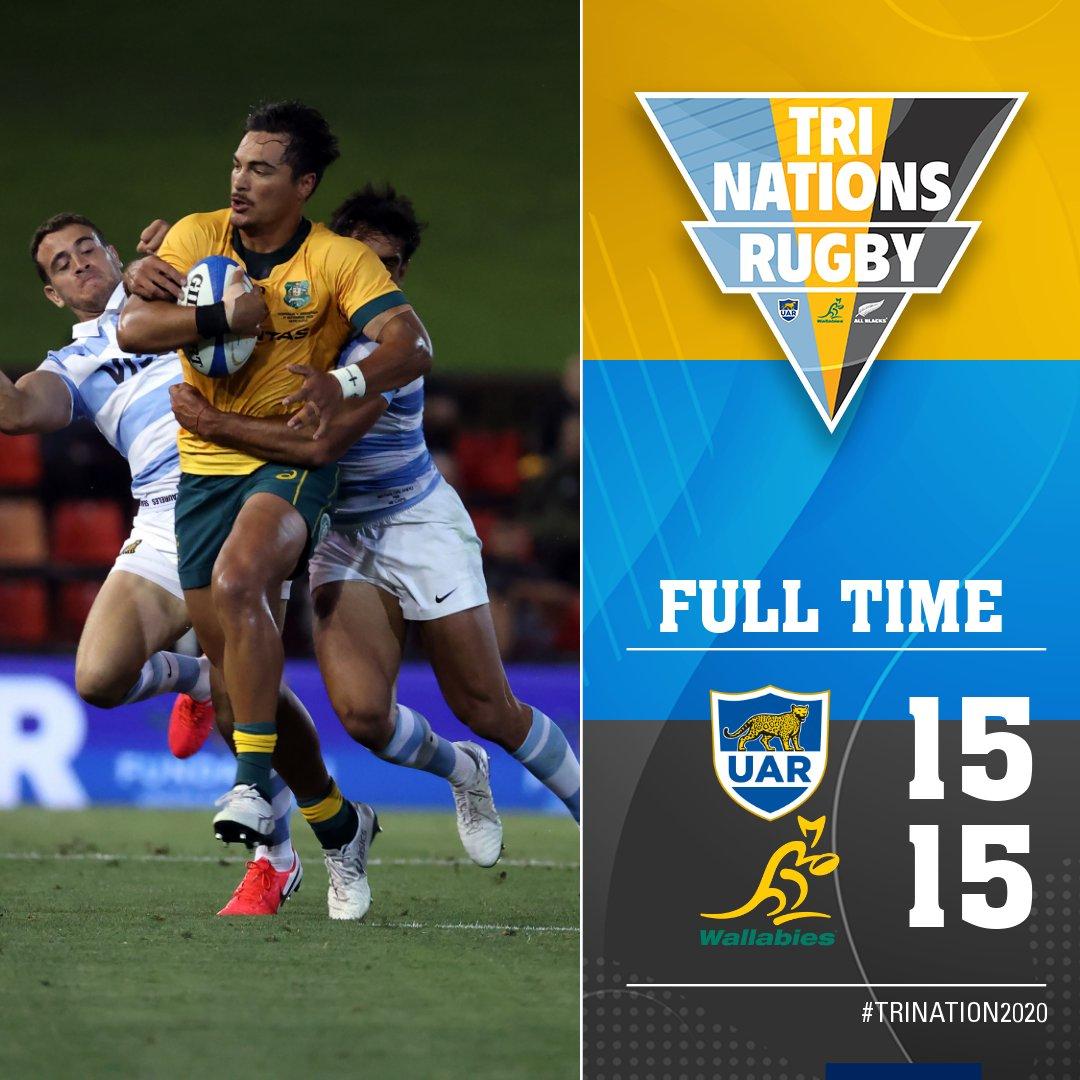 Los Pumas empataron con Australia por 15 a 15 en la cuarta fecha del torneo Tres Naciones