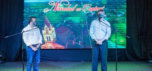 El Gobernador Oscar Herrera Ahuad inauguró la Fiesta de la Navidad en Capioví