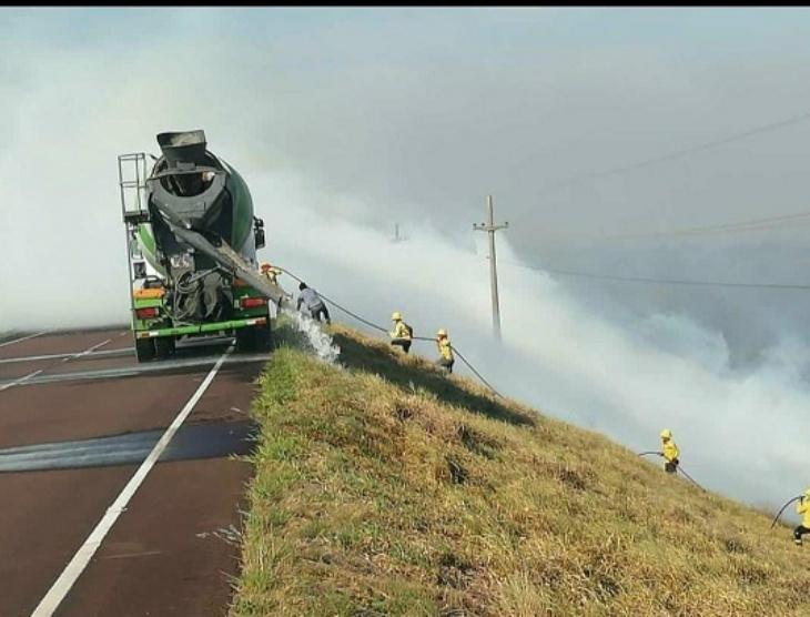 Los incendios en la zona de la Represa Yacyretá estarían controlados, pero se ubican cerca de las instalaciones Aña Cua