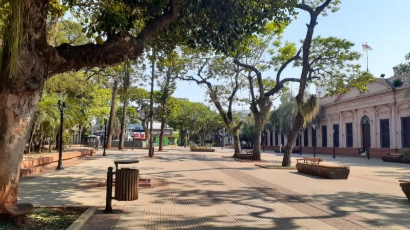 Poco movimiento en la ciudad de Posadas por el Día de la Soberanía Nacional