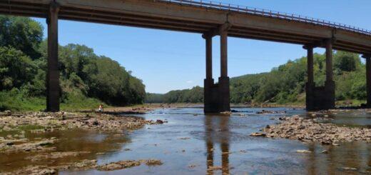 Preocupación por la sequía en Eldorado: así luce el arroyo Piray Guazú