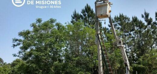 Energía de Misiones realizó la instalación de infraestructuras en Cerro Corá y San Javier