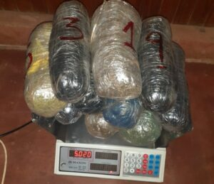 Incautaron una bolsa de arpillera con bultos de marihuana en Candelaria