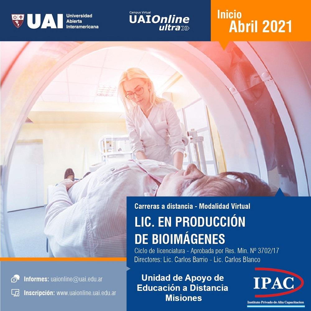 UAI en Misiones dicta la Licenciatura en Producción de Bioimágenes a distancia en formato de articulación