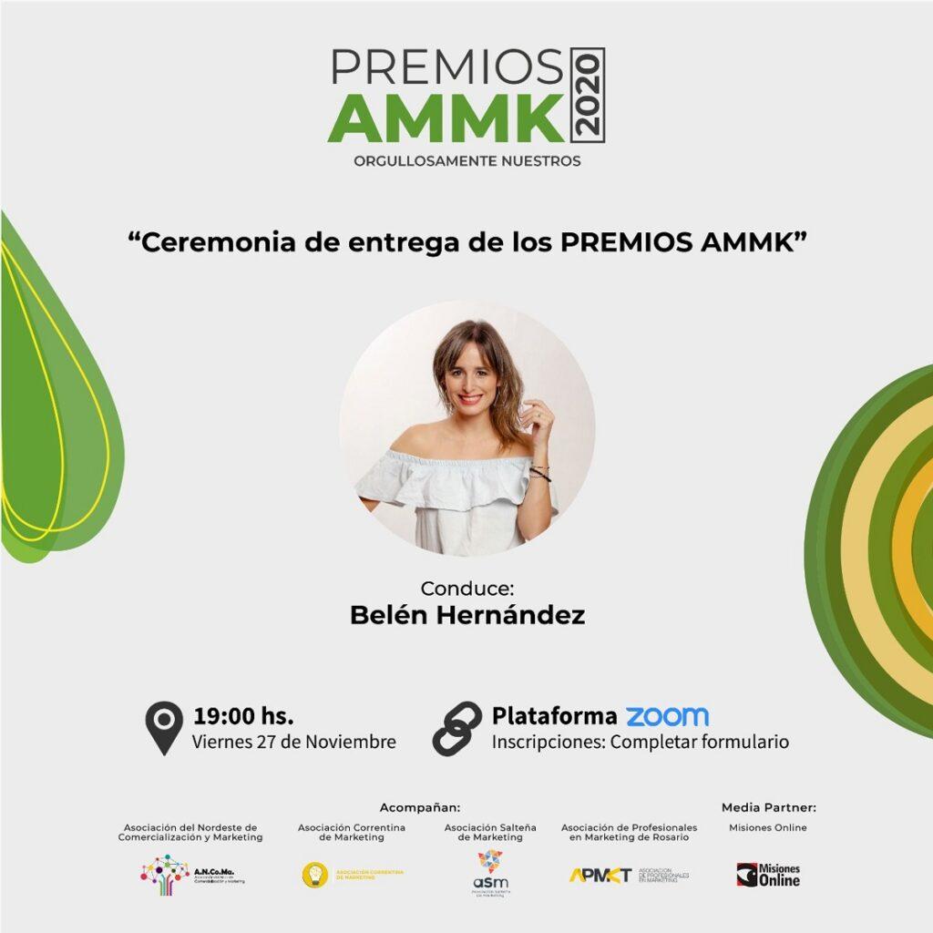 La Asociación Misionera de Marketing entregará el próximo viernes los Premios AMMK, con el auspicio de Misiones Online
