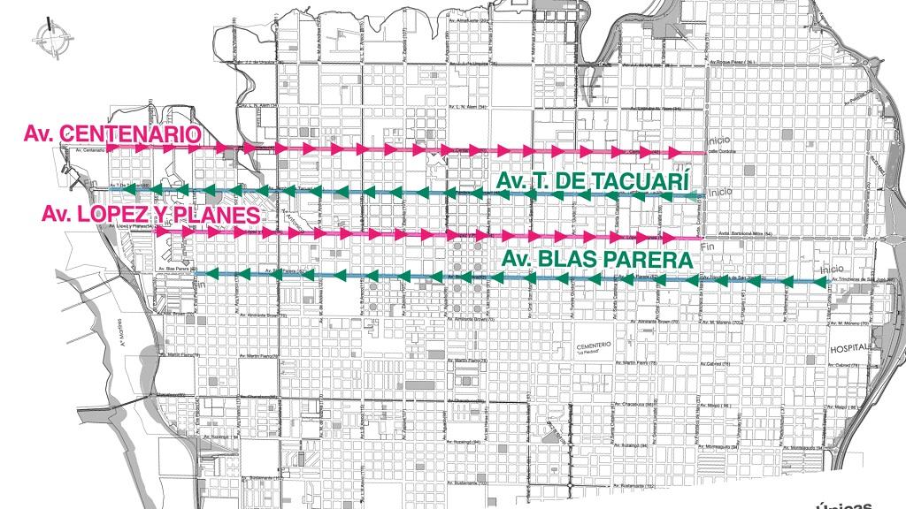 Se aprobó el proyecto que convierte en manos únicas a otras cuatro avenidas de Posadas