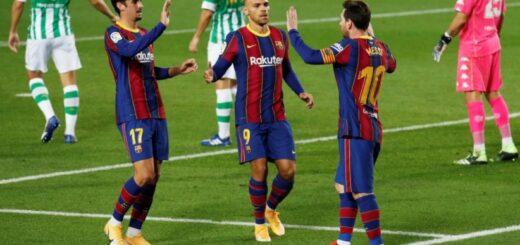 Barcelona vapuleó al Betis con dos goles de un encendido Messi