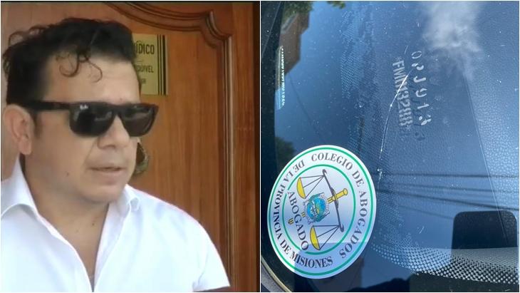 Atacaron el auto de un abogado posadeño
