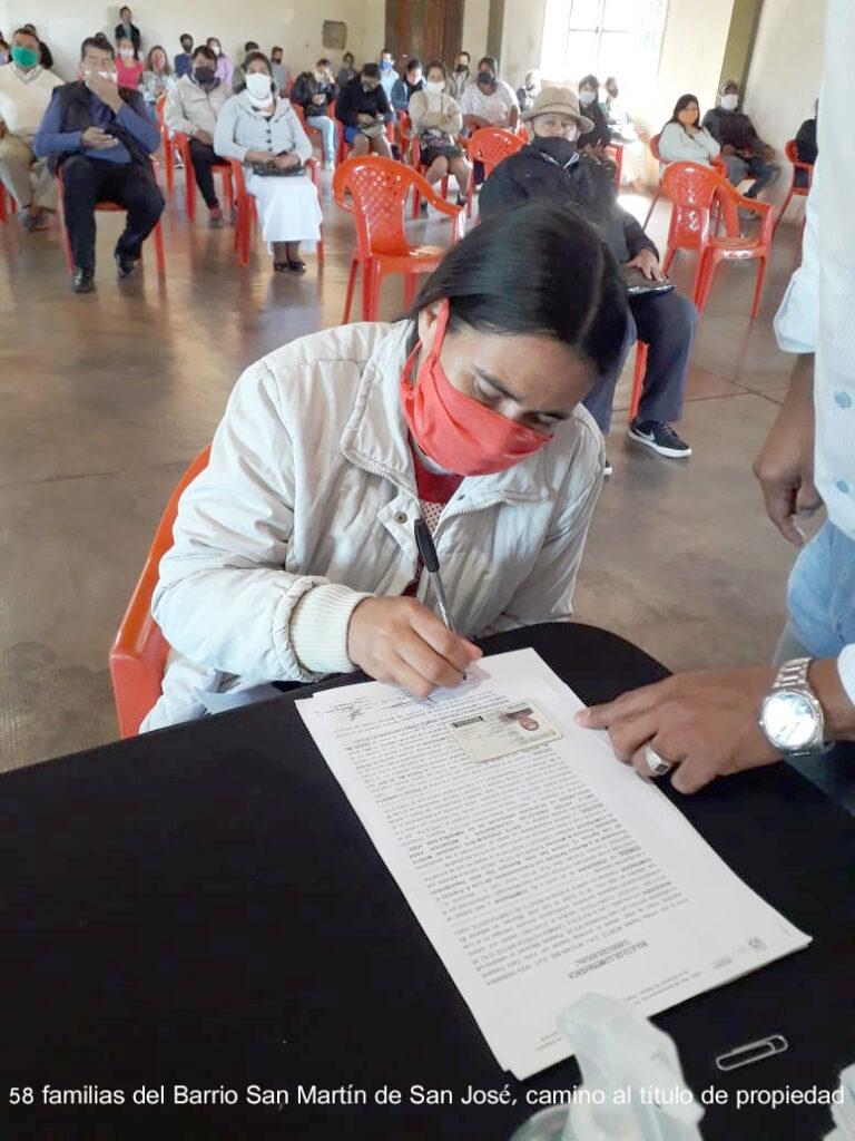 IPRODHA avanza con regularizaciones dominiales en la comuna de San José