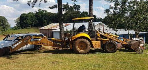 Gendarmería secuestró mercaderías destinadas al contrabando, máquinas agrícolas brasileras, armas, municiones y dinero en una chacra de San Antonio