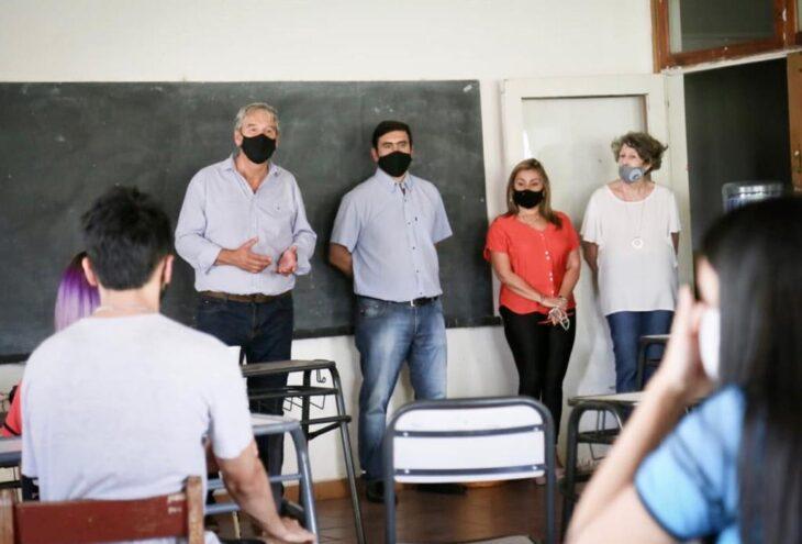 Eldorado: el ministro de Educación de Misiones y el intendente supervisaron protocolos en establecimientos educativos