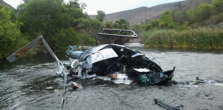 El gobierno de Salta confirmó que el helicóptero de Jorge Brito se enganchó en el cable de una tirolesa