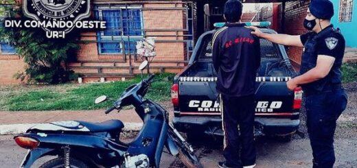 Posadas: intentó escapar en una moto robada y lo arrestaron