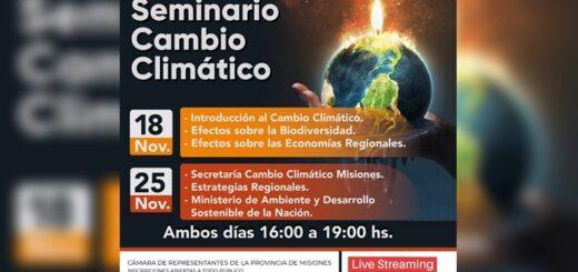 """Cambio Climático: invitan a un seminario para aprender sobre la temática """"y entender que toda la sociedad puede hacer un aporte"""", manifestó Julio Barreto"""