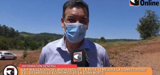 """Miguel Dos Santos: """"Algunos pensaban que la obra de la ruta 14 no se iba a terminar más"""""""