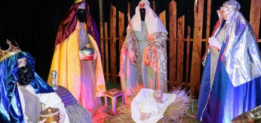 Montecarlo: realizaron la presentación del pesebre navideño en tamaño real