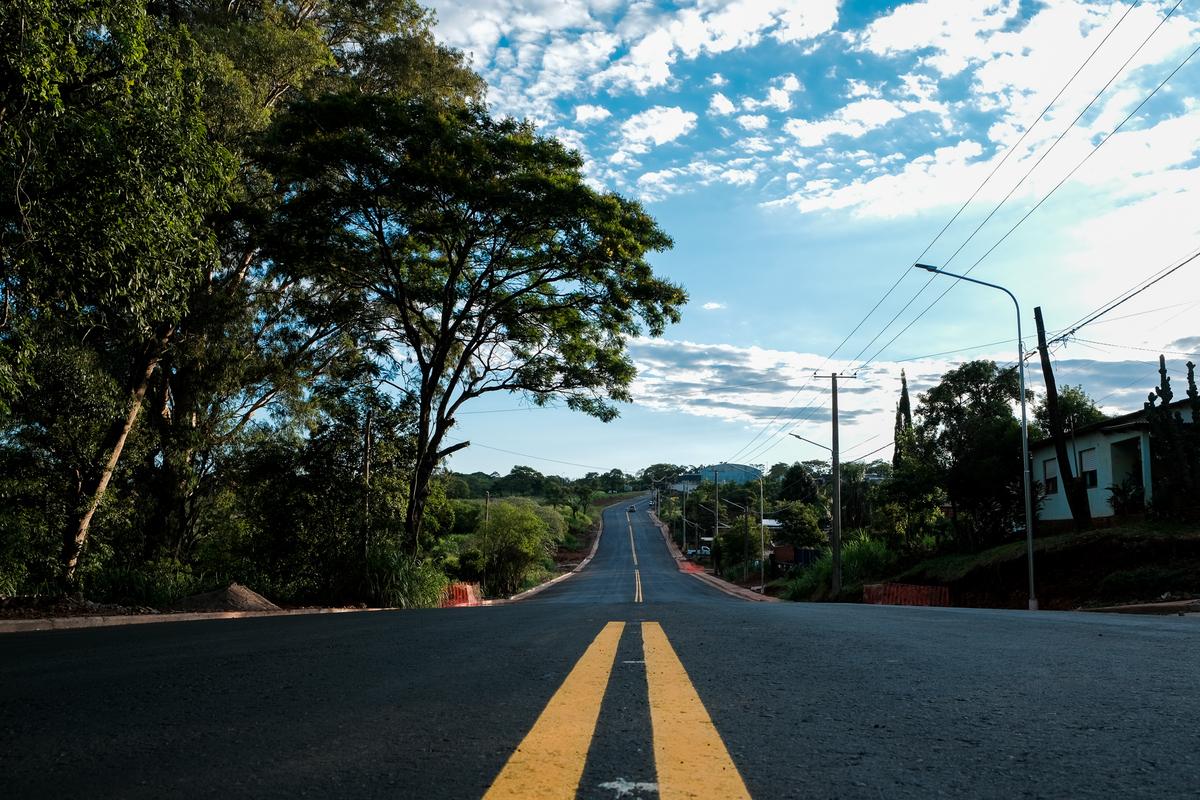 Vialidad finalizó la pavimentación de la Av. Kordts en Leandro N. Alem