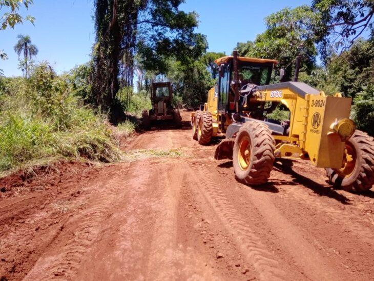 Vialidad concretó mejoras en 100 kilómetros de rutas terradas en el norte de Misiones