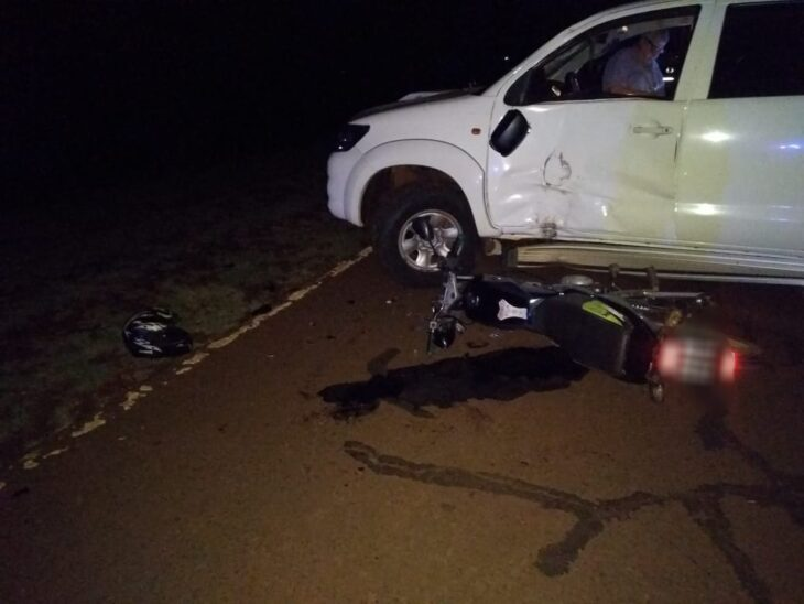 Motociclista falleció tras un choque en Jardín América