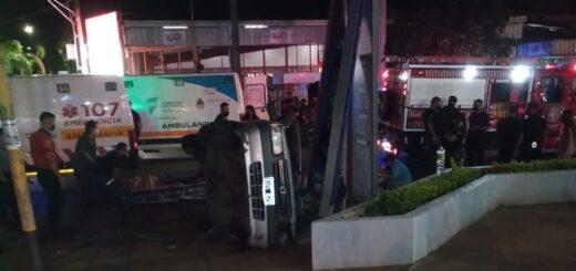 Una mujer  falleció y  tres hombres resultaron heridos tras un despiste en Posadas