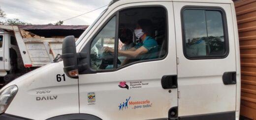 El Intendente de Montecarlo manejó un camión recolector de basura