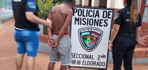 Eldorado: capturaron a un joven que a punta de cuchillo le robó a otro en barrio Antiguo Centro