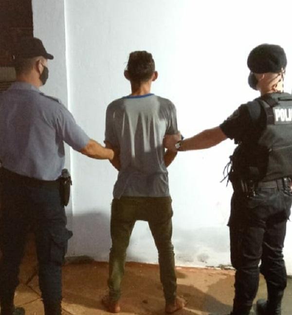 Detuvieron a un joven tras un raid delictivo y recuperaron objetos robados en San Vicente