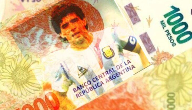 Presentan un proyecto de ley para que la imagen de Maradona aparezca en billetes de $1000