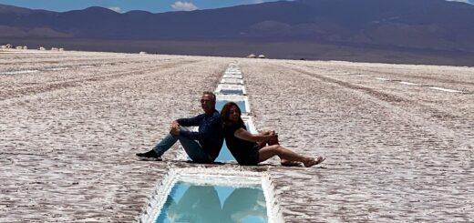 Marley y Lizy Tagliani en Jujuy: recorrieron las Salinas Grandes, Maravilla Natural Argentina