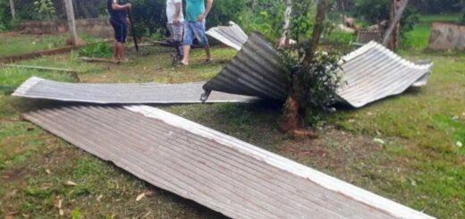 Protección Civil de Misiones asistió a los municipios que fueron afectados por el temporal del fin de semana