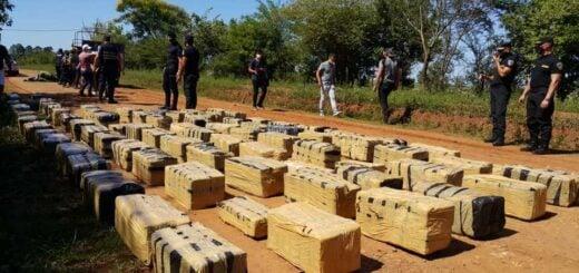 Otro golpe al narcotráfico en Misiones: interceptaron un camión cargado de marihuana en Nemesio Parma
