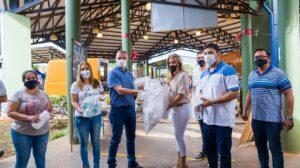 El IFAI y Vicegobernación entregaron barbijos y alcohol sanitizante en el Mercado Concentrador Zonal de Posadas