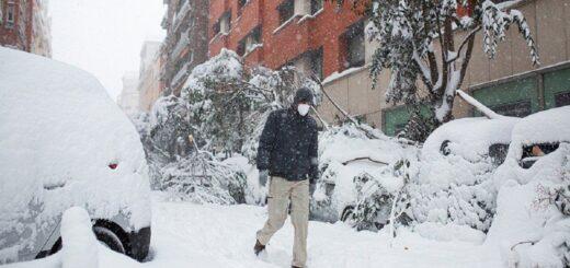 España: alerta roja por la peor nevada en los últimos 50 años