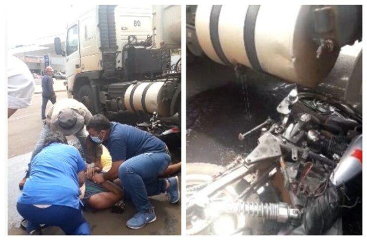 Choque entre moto y camión dejó un joven herido en Posadas