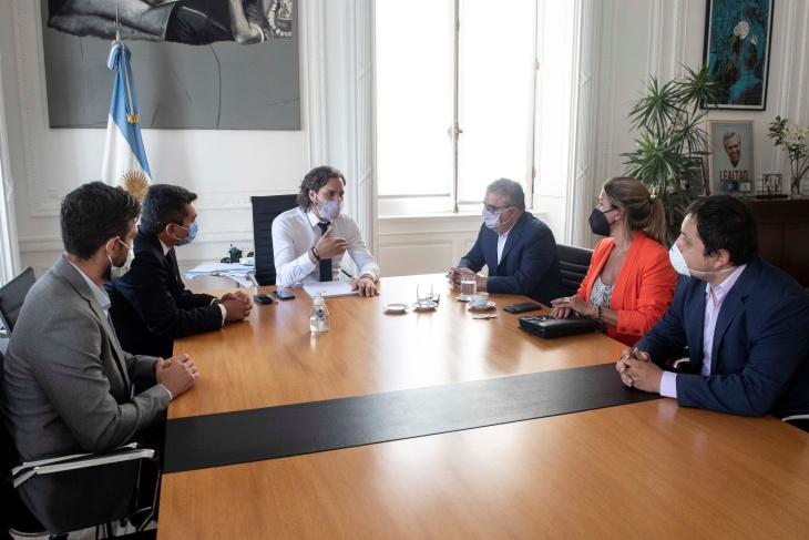 Santiago Cafiero se reunió con el gobernador de Catamarca para analizar la ejecución de obras que estuvieron paralizadas por 4 años