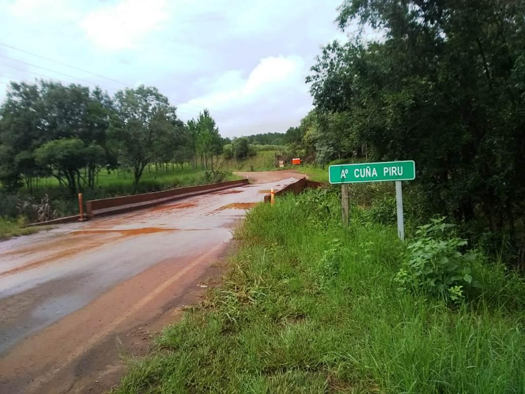 Desvío en la ruta 7: desde Vialidad informan que está habilitado el paso alternativo al puente Cuña Pirú