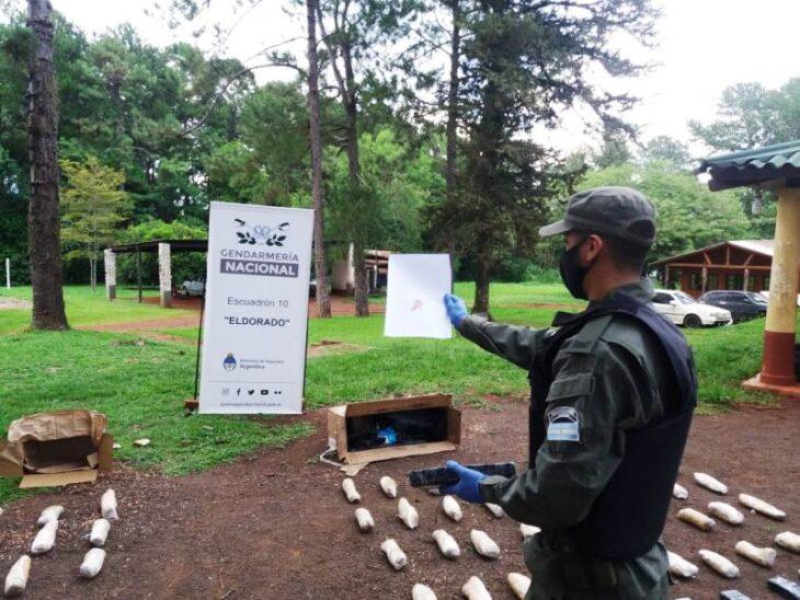 La Gendarmería secuestró encomiendas con 37 kilos de marihuana y cigarrillos de contrabando, en operativos realizados en Misiones
