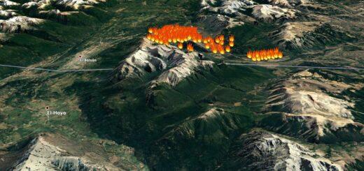 """Río Negro: sigue """"fuera de control"""" un incendio forestal que ya arrasó con más de 3.000 hectáreas entre El Bolsón y El Maitén"""